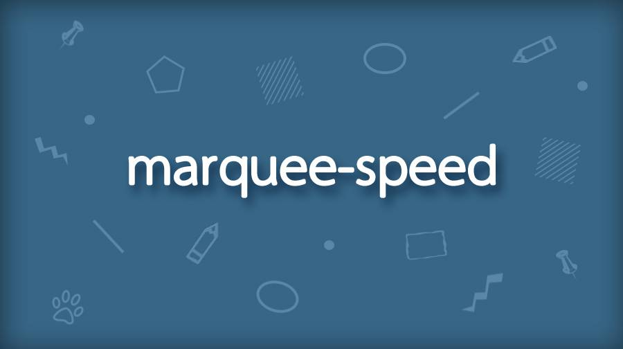 CSS marquee-speed