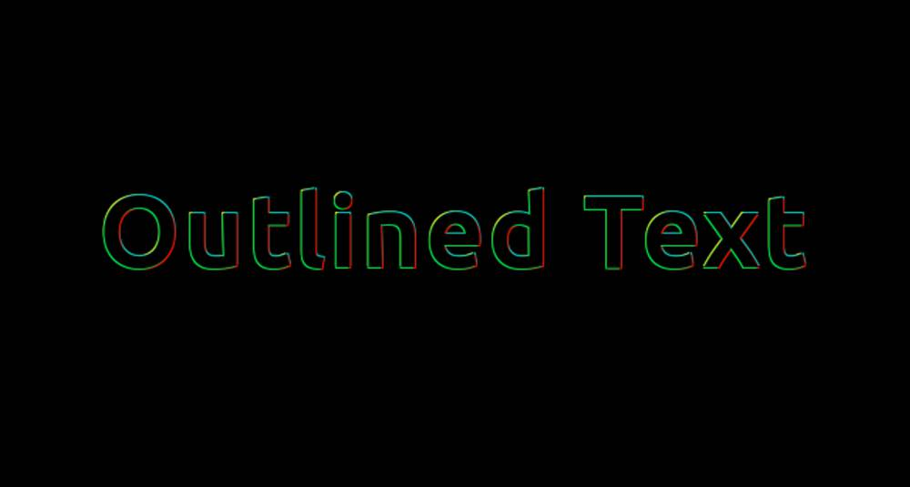Create Multi-colored Text Outline using CSS