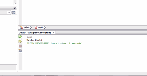 output of java file in Netbeans