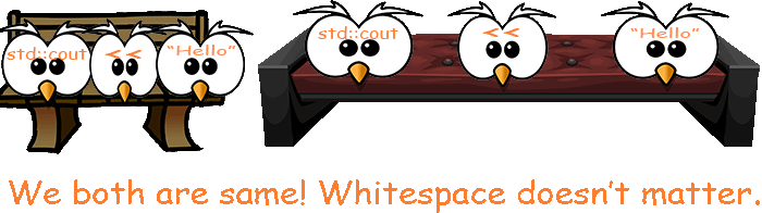 whitespace in c++