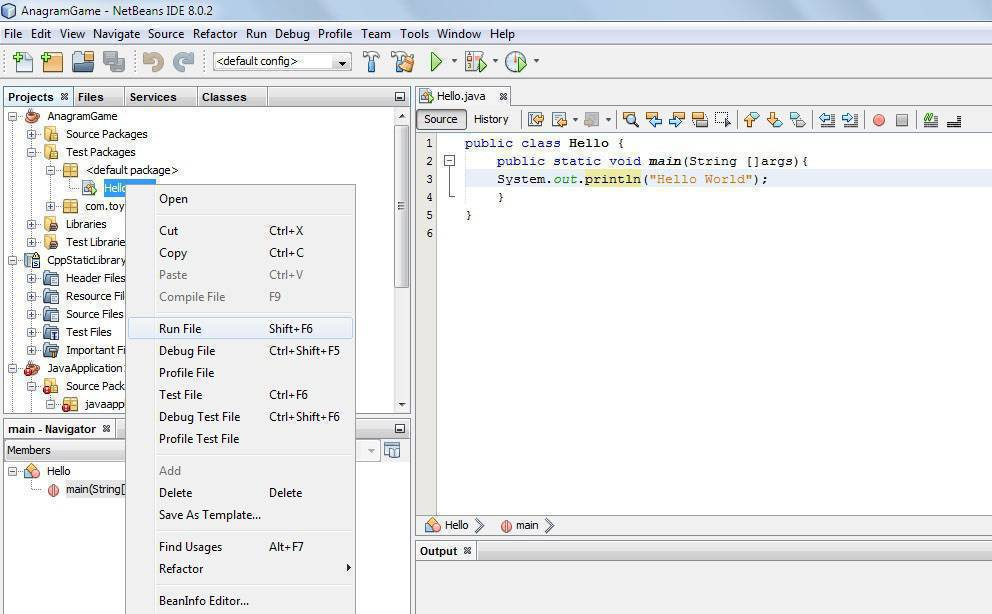 compling java file in Netbeans