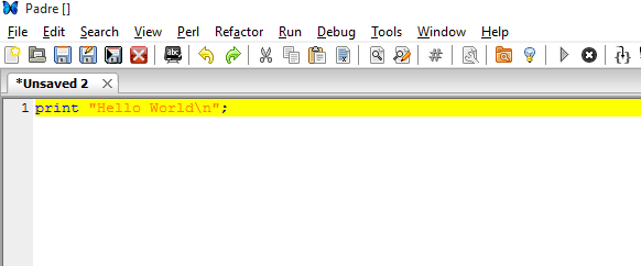 writing Perl codes in windows