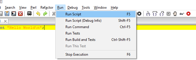run Perl codes from file in windows