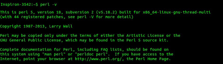 checking version of Perl